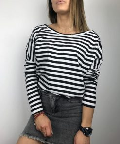 Longsleeve Basic Stripes Black II
