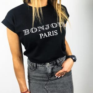 T-shirt BONJOUR Paris Black