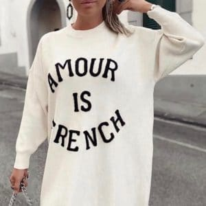 Sweter Amour Is French Ecru