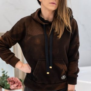 Bluza Never Give Up DIY Brown